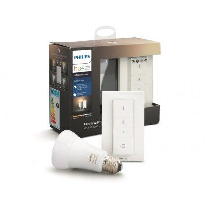 Hue Bluetooth LED White Ambiance základní sada LED žárovka 1xE27 A19 8.5W 806lm 2200K-6500K + switch