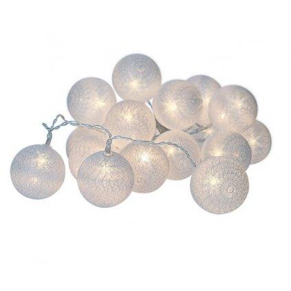 LED Vánoční bavlněné koule 20LED, 3m, IP20