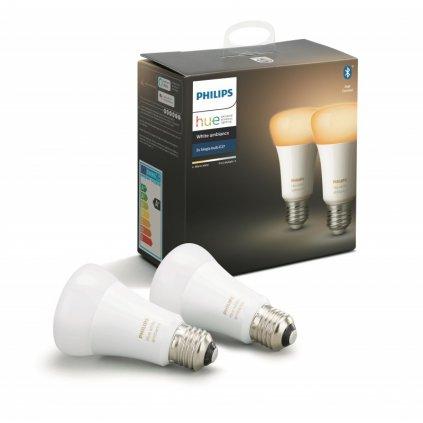 Hue Bluetooth LED White Ambiance žárovka E27 A19 8.5W 806lm 2200K-6500K set 2 ks