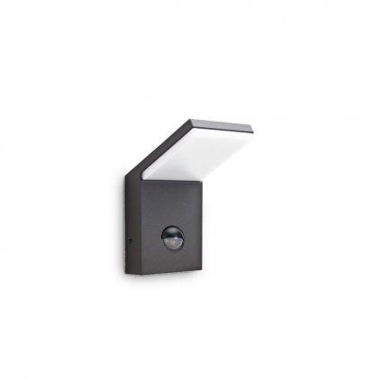 LED Venkovní nástěnné svítidlo Ideal Lux Style AP1 Anthracite 221519 9,5W 680lm IP54 antracitové s čidlem