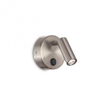 LED Nástěnné svítidlo Ideal Lux Page AP Round Nickel 233673 3W 210lm IP20 kulaté niklové