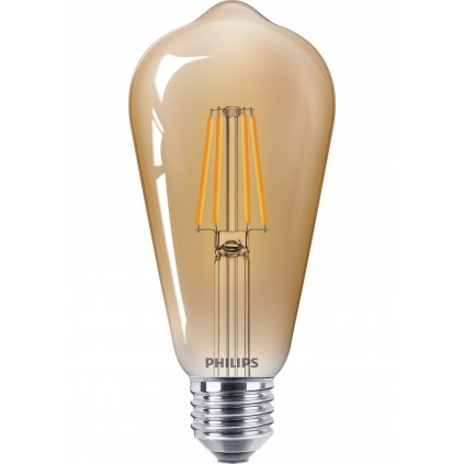 LED Žárovka Philips Vintage 8718699673543 E27 ST64 4W-35W 400lm 2500K nestmívatelná, zlatá