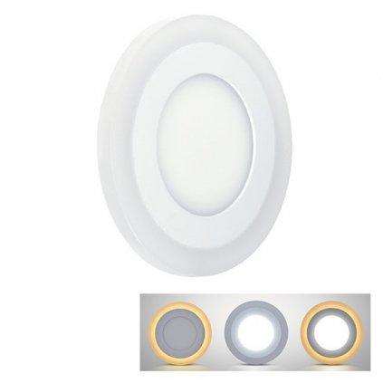 LED Podsvícený podhledový panel Solight WD154, 18W+6W, 1530lm+160lm, 4000K+2700K, IP20, kulatý