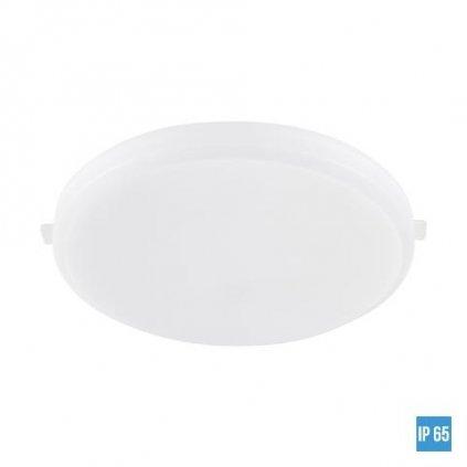 LED Stropní zápustný panel Luxera AGILO 63201 13W 1300lm 4000K IP65 12cm kulatý bílý