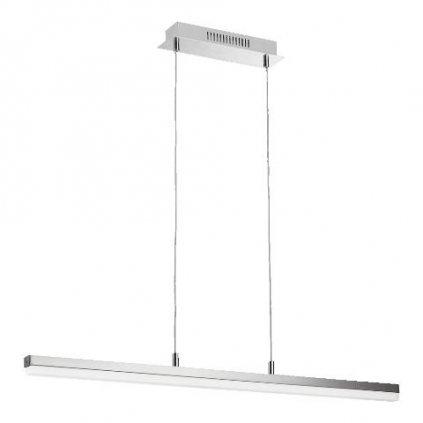 LED Závěsné svítidlo Luxera BLUM LED 49019 28W 1800lm 3000K IP20 88cm niklové stmívatelné