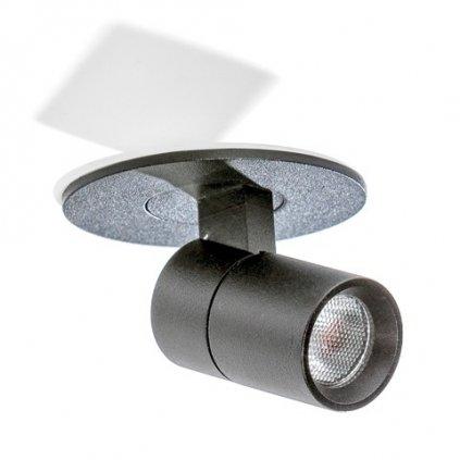 LED Stropní zápustné bodové svítidlo Azzardo Lina black AZ2708 2W 170lm 3000K IP20 6cm černé