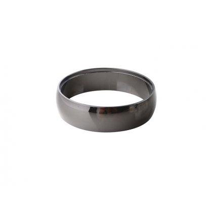Dekorační kroužek Azzardo Adamo Ring black AZ1484 lesklý černý