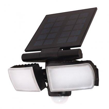 LED Venkovní solární osvětlení se senzorem Solight WO772 8W, 600lm, 4000K, IP44, Li-on, černé