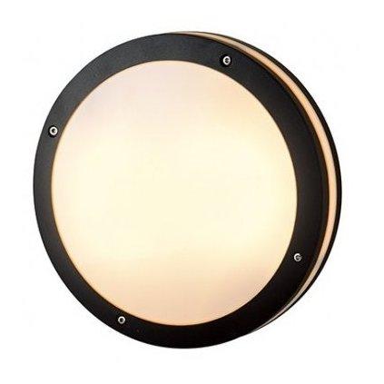LED Stropní a nástěnné přisazené svítidlo Azzardo Fano Round dark grey AZ2187 9W 750lm 3000K IP54 22cm kulaté tmavě šedé
