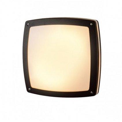 LED Stropní a nástěnné přisazené svítidlo Azzardo Fano Square dark grey AZ2186 9W 750lm 3000K IP54 22cm hranaté tmavě šedé