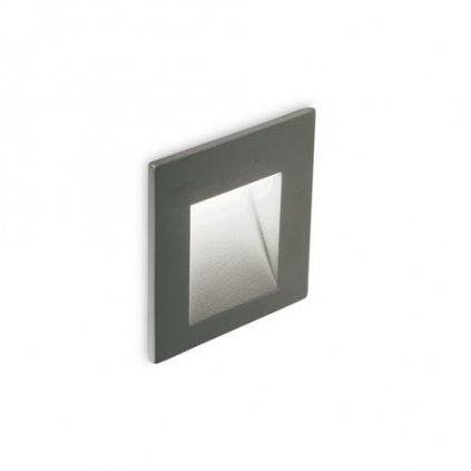 LED Nástěnné zápustné svítidlo Ideal Lux BIT ANTRACITE 4000K 269016 3W 230lm 4000K IP65 6,5cm antracitové