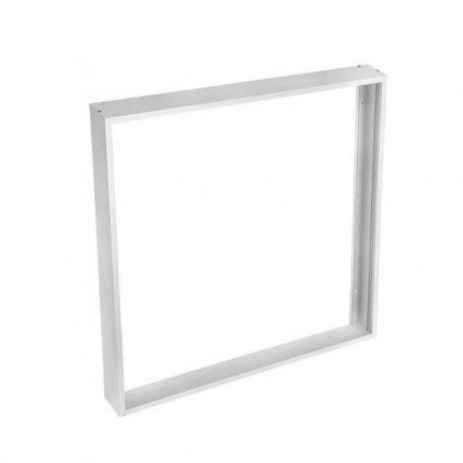 Hliníkový bílý rám Solight WO906-S pro instalace 595x595mm LED panelů na stropy a zdi, výška 68mm