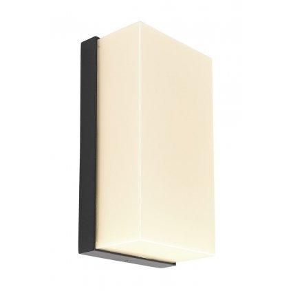 LED Venkovní nástěnné svítidlo Grumium IMPR 731126 10W, 530lm, 3000K/4000K, IP54, 230V, 100mm, tmavě šedé