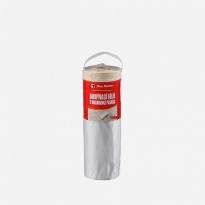 Den Braven - Zakrývací fólie s maskovací páskou, 180 cm x 33 m, transparentní