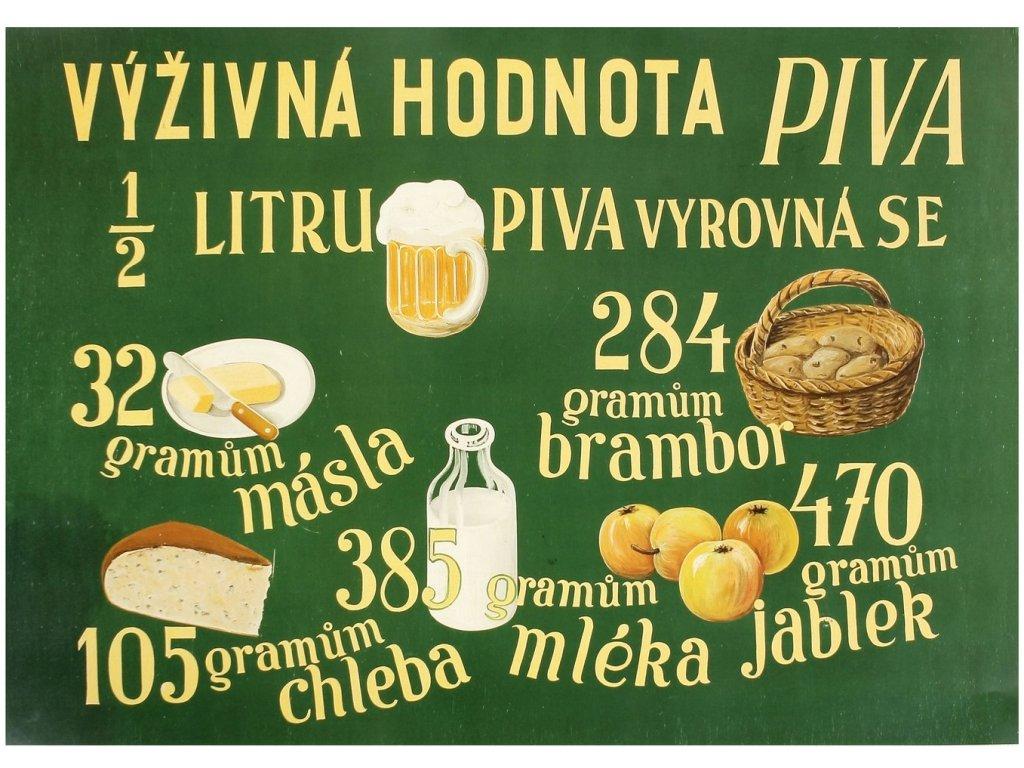 vyživná hodnota piva