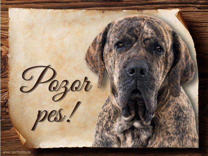 Cedulka Brazilská Fila - Pozor pes/CP655