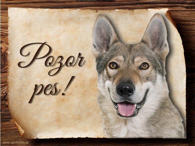 Cedulka Československý vlčák - Pozor pes/CP612
