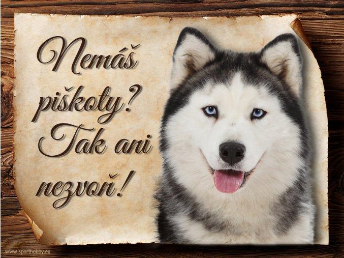 Cedulka Husky - Piškoty/CP393