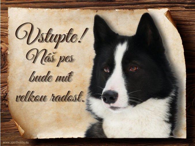 Cedulka Karelský medvědí pes - Vstupte/CP142