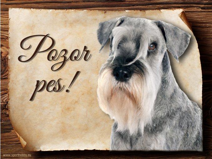 Cedulka Knírač - Pozor pes/CP404