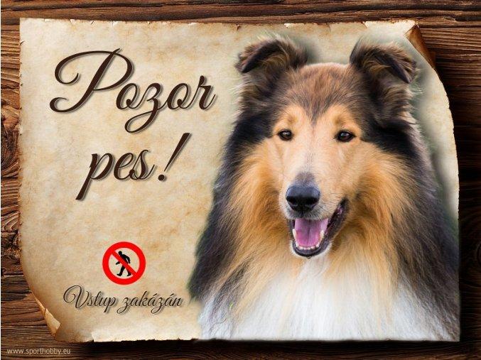 Cedulka Kolie - Pozor pes zákaz/CP377
