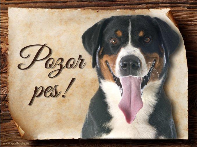 Cedulka Appenzelský salašnický pes - Pozor pes/CP491