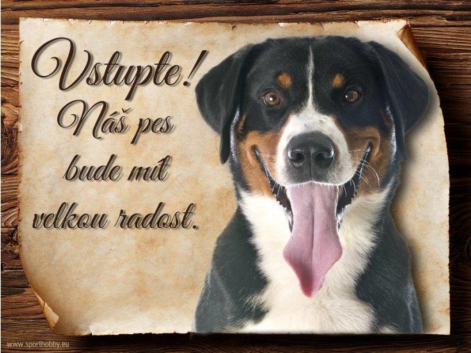 Cedulka Appenzelský salašnický pes - Vstupte/CP495