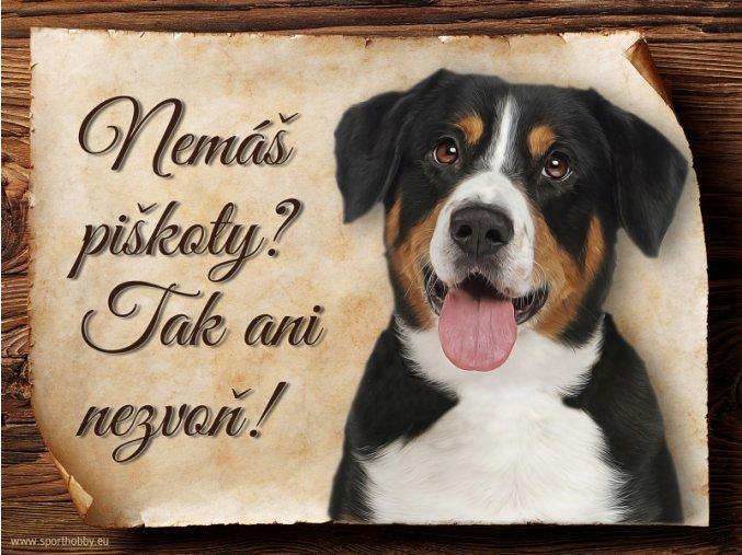 1200 Cedulka Entlebušský salašnický pes