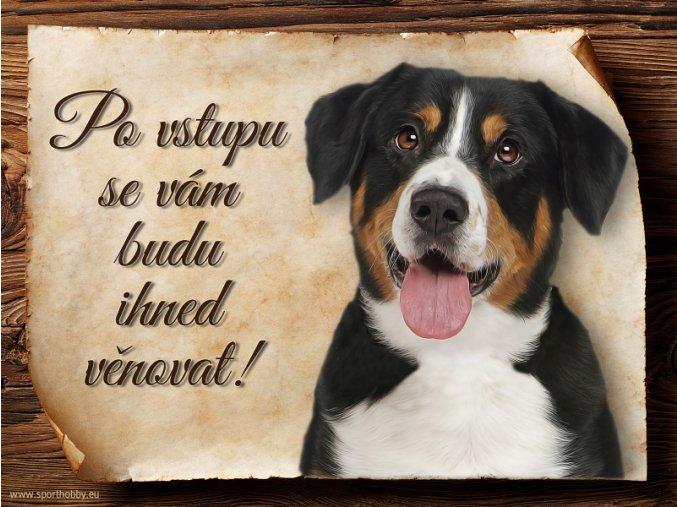 1201 Cedulka Entlebušský salašnický pes