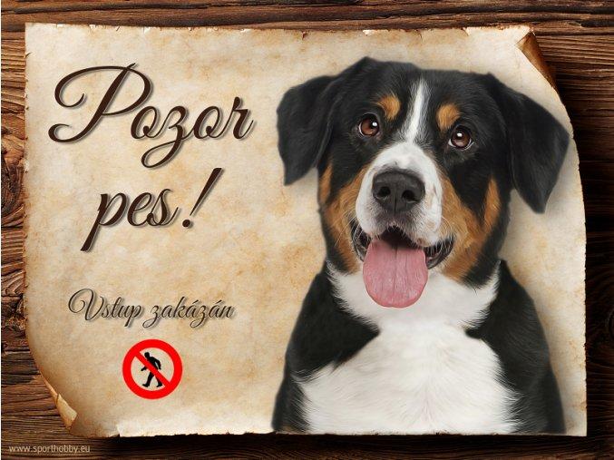 1202 Cedulka Entlebušský salašnický pes