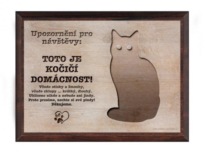 Cedulka dřevo 20x15 CD6012 Kočka