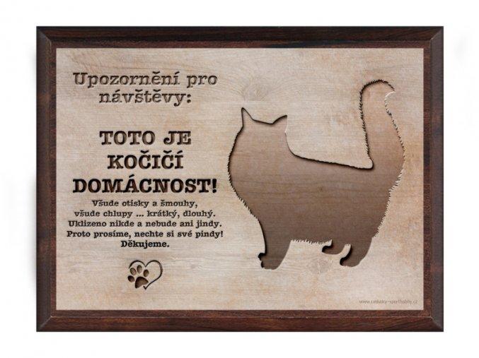 Cedulka dřevo 20x15 CD6013 Kočka