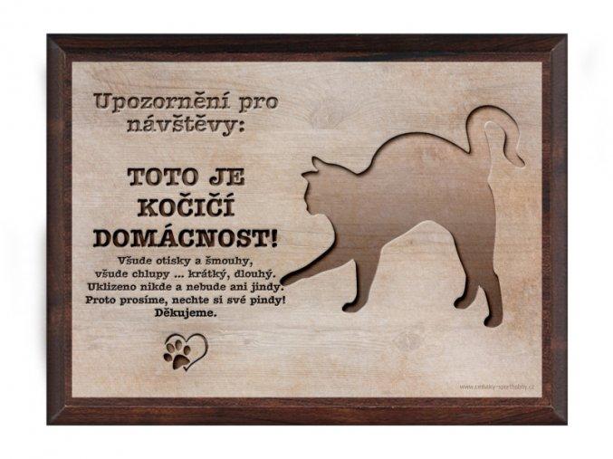 Cedulka dřevo 20x15 CD6014 Kočka