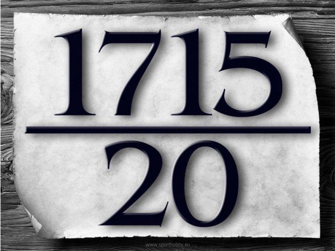 2034 Domovní číslo Bangkok Lomítko BW