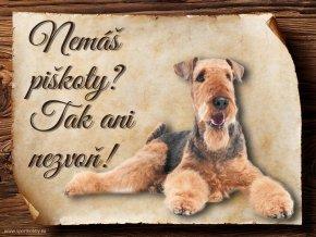 Cedulka Airedalský Terrier - Piškoty/CP109