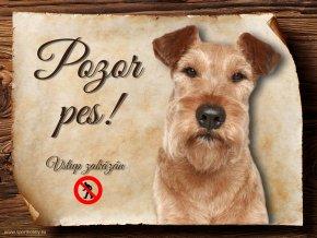 Cedulka Irský teriér - Pozor pes zákaz/CP645