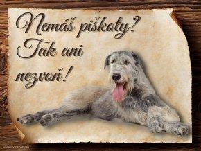Cedulka Irský vlkodav - Piškoty/CP097