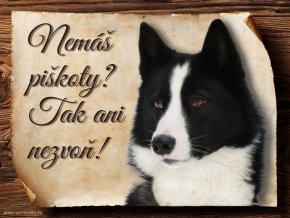 Cedulka Karelský medvědí pes - Piškoty/CP139