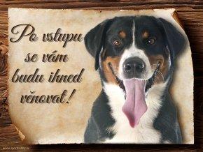 Cedulka Appenzelský salašnický pes - Po vstupu .../CP493