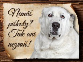 Cedulka Středoasijský pastevecký pes - Piškoty/CP315