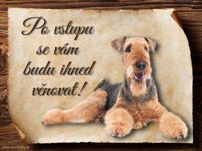 Cedulka Airedalský Terrier - Po vstupu .../CP110
