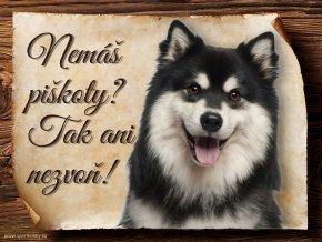 694 Cedulka Finský laponský pes