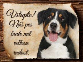 1203 Cedulka Entlebušský salašnický pes