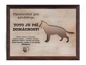 Cedulka dřevo 20x15 CD6007 Německý ovčák