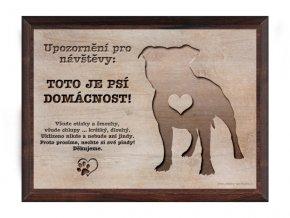 Cedulka dřevo 20x15 CD6008 Americký stafordširský teriér