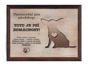 Cedulka dřevo 20x15 CD6010 Čivava