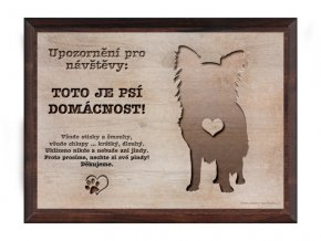 Cedulka dřevo 20x15 CD6011 Čivava
