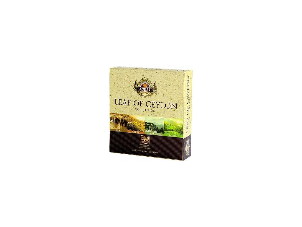 Basilur dárková sada Leaf of Ceylon, 40 sáčků