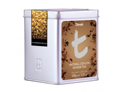 Dilmah T-Caddy Natural Ceylon Ginger Tea, čaj černý, zázvor