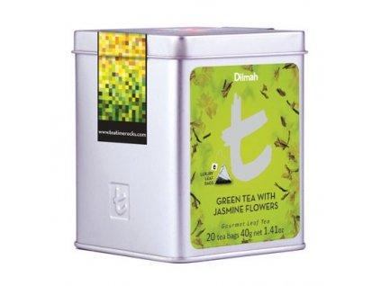 Dilmah T-Luxury Green Tea with Jasmine Flowers,